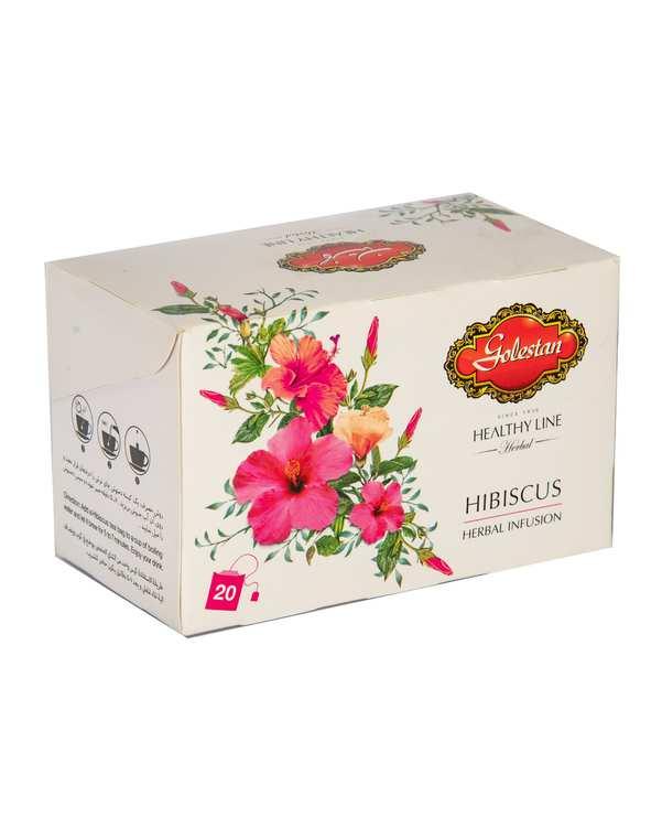 دمنوش گیاهی چای ترش گلستان بسته 20 عددی