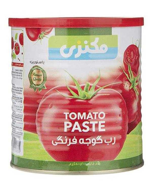 رب گوجه فرنگی قوطی 800 گرمی مکنزی