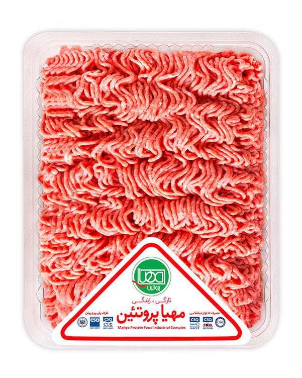 گوشت چرخکرده مخلوط گوساله و گوسفند 900 گرمی مهيا پروتئين