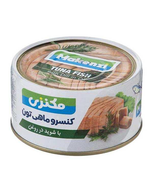 کنسرو ماهی تن با شوید در روغن 180 گرمی مکنزی