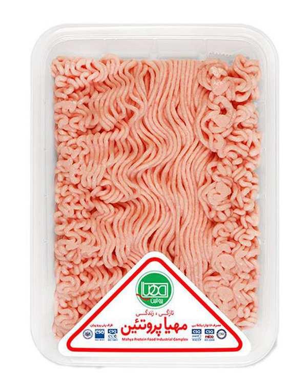 گوشت چرخکرده مرغ 500 گرمی مهیا پروتئین