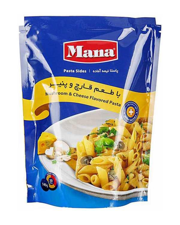 پاستا نیمه آماده با طعم قارچ و پنیر 145 گرمی مانا