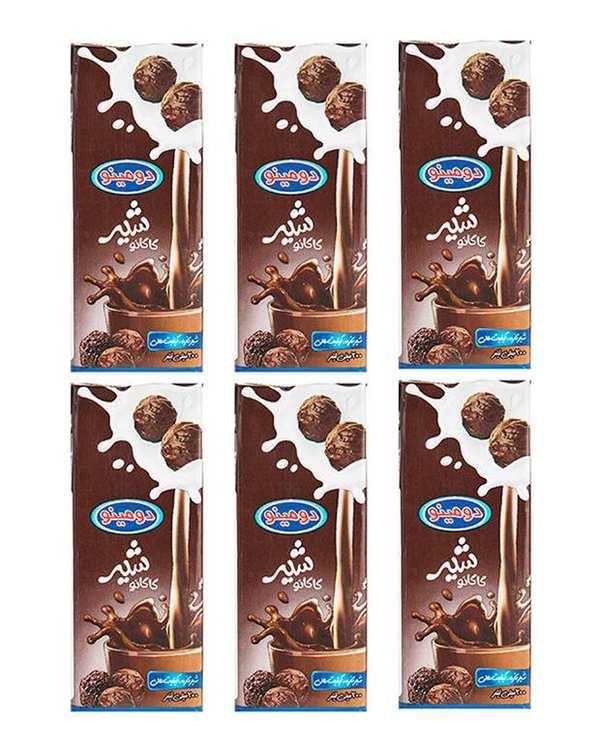شیر کاکائو 200 میلی لیتری دومینو بسته 6 عددی