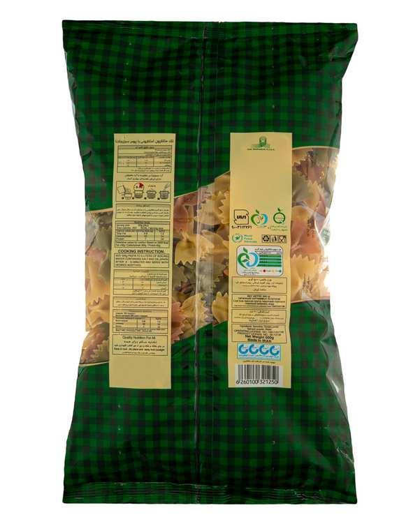 ماکارونی پروانه ای سبزیجات 500 گرمی تک ماکارون