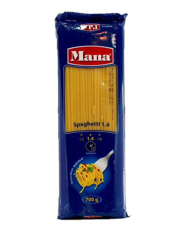 اسپاگتی قطر 1/4 700 گرمی مانا