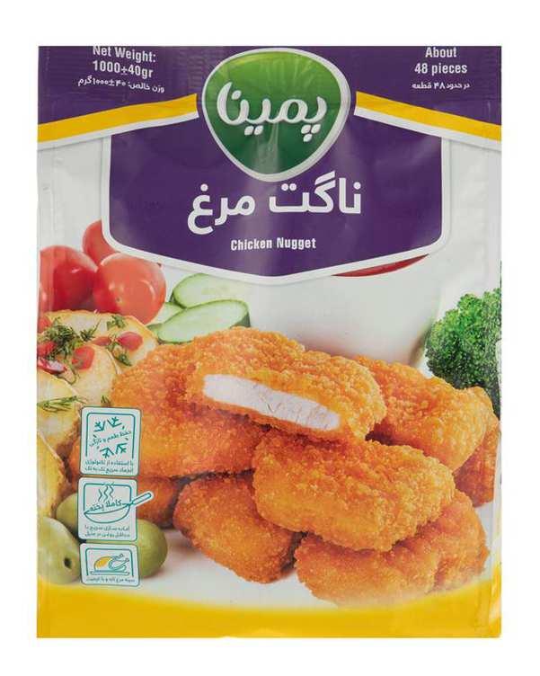 ناگت مرغ منجمد 1 کیلو گرمی پمینا