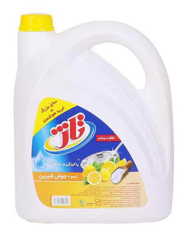 مایع ظرفشویی با رایحه لیمو زرد 3.75 کیلوگرمی تاژ