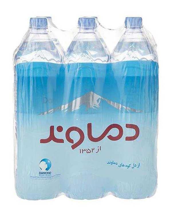 آب معدنی 1.5 لیتری دماوند بسته 6 عددی