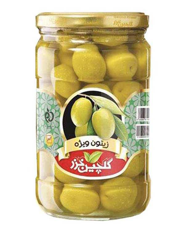 زیتون سبز ویژه 680 گرمی گلچین خزر