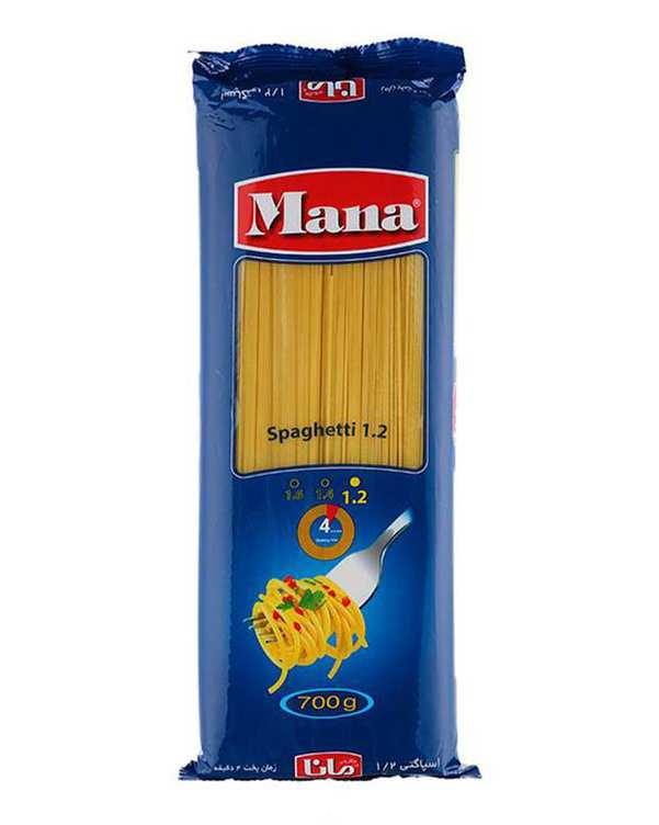 اسپاگتی قطر 1/2 رشته ای 700 گرمی مانا