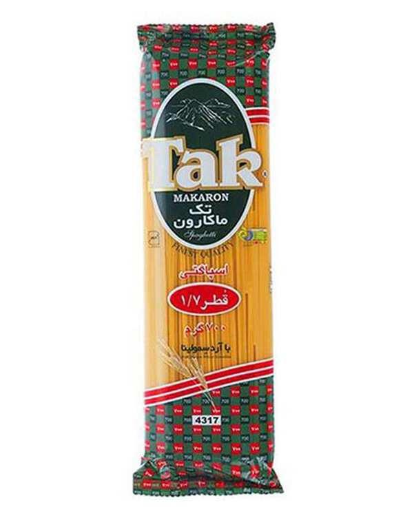 اسپاگتی قطر 1.7 رشته ای 700 گرمی تک ماکارون