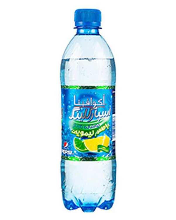 آب گازدار با طعم لیمو اسپارکلینگ 0.5 لیتری آکوافینا