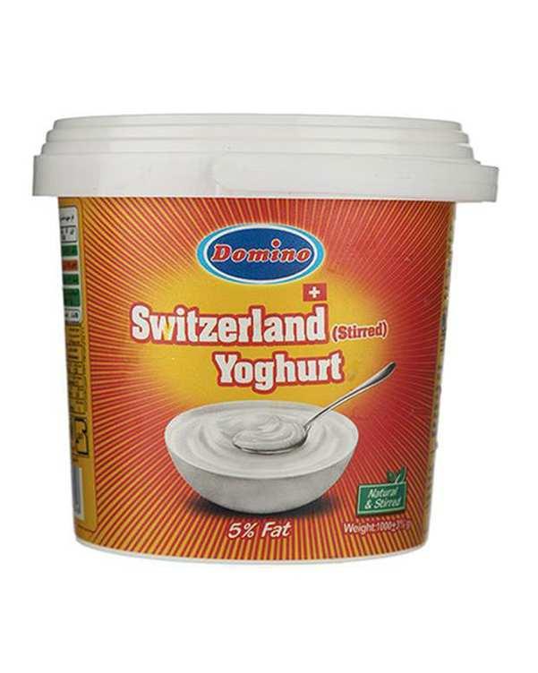 ماست سوئیسی همزده 5% چربی 1 کیلو گرمی دومینو