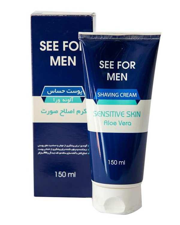 کرم اصلاح صورت آقایان مناسب پوست های حساس سیفور