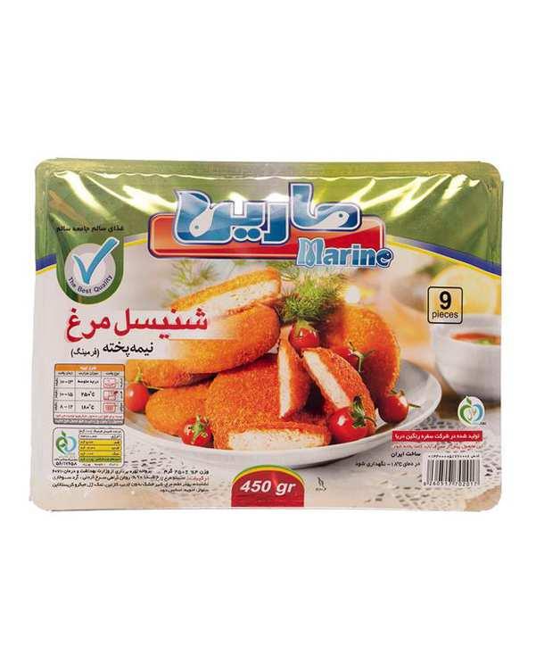 شنیسل مرغ سوخاری 450 گرمی مارین