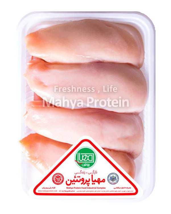 سینه مرغ بی پوست 1800 گرمی مهیا پروتئین