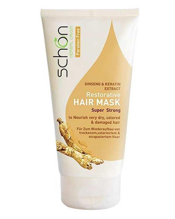 ماسک مو های خشک با آبکشی حاوی عصاره جینسینگ و کراتین شون
