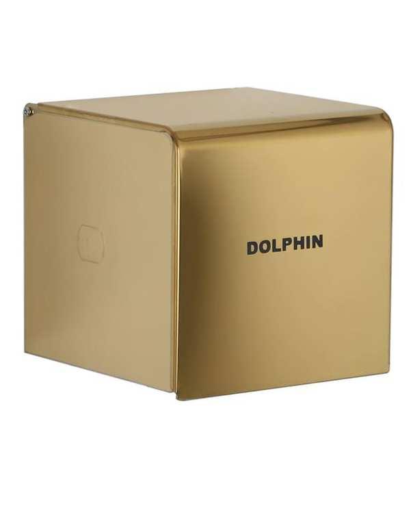جا دستمال کاغذی مدل Larens-304 طلایی دلفین