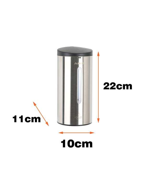 جا مایع دستشویی اتوماتیک مدل 24FL-700 SS نقره ای مشکی ماتدلفین