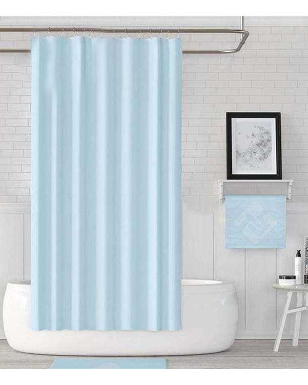 پرده حمام مدل Jack-0010 آبی روشن دلفین