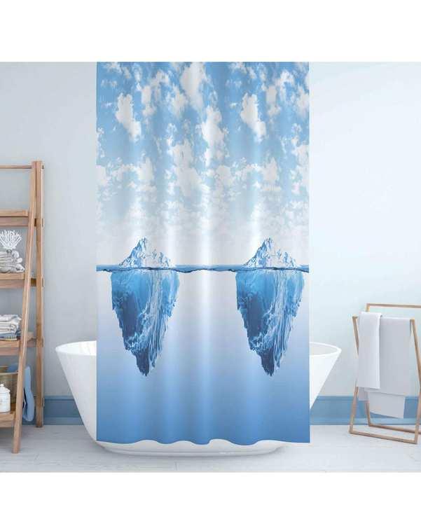 پرده حمام کد jack-5322 آبی دلفین