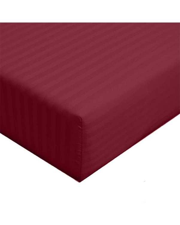 سرویس ملحفه یک و نیم نفره 2 تکه طرح Parallel زرشکی مانیکا هوم