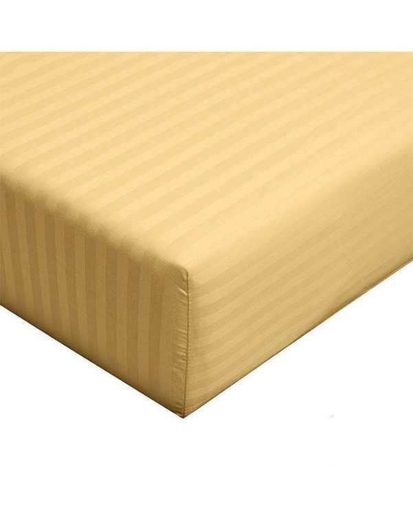 سرویس ملحفه یک و نیم نفره 2 تکه طرح Parallel طلایی مانیکا هوم