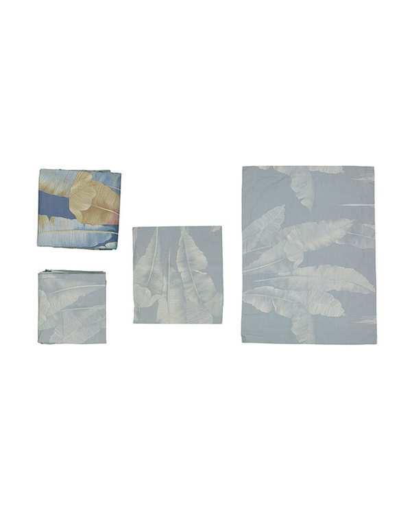 سرویس لحاف یک و نیم نفره 4 تکه مدل لیزا سرمه ای مانیکا هوم