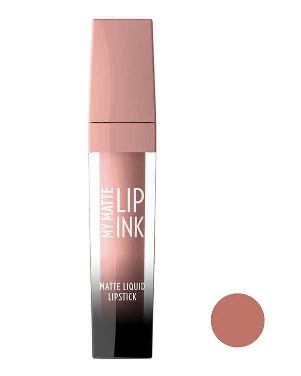 رژ لب مایع مات مدل My Matte Lip Ink کالباسی روشن 02 گلدن رز