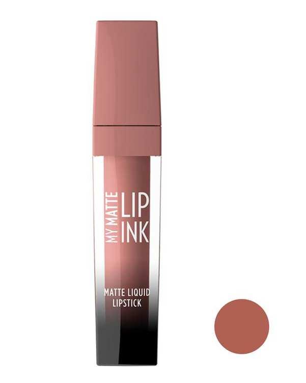 رژ لب مایع مات مدل My Matte Lip Ink کالباسی 03 گلدن رز