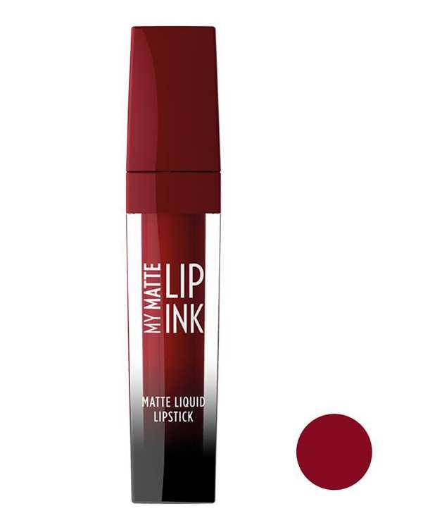 رژ لب مایع مات مدل My Matte Lip Ink زرشکی 13 گلدن رز