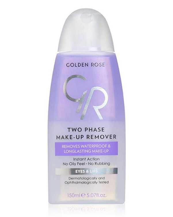 محلول پاک کننده آرایش دو فاز چشم و لب 150ml گلدن رز