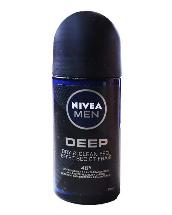 رول دئودورانت مردانه 48 ساعته 50ml Deep Black Carbon نیوآ