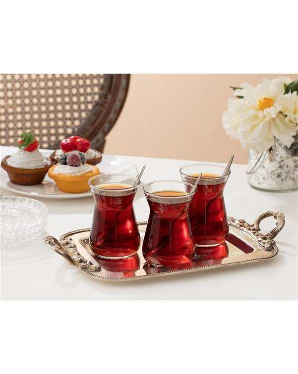 ست 6 عددی استکان چای خوری مدل Francessa مادام کوکو