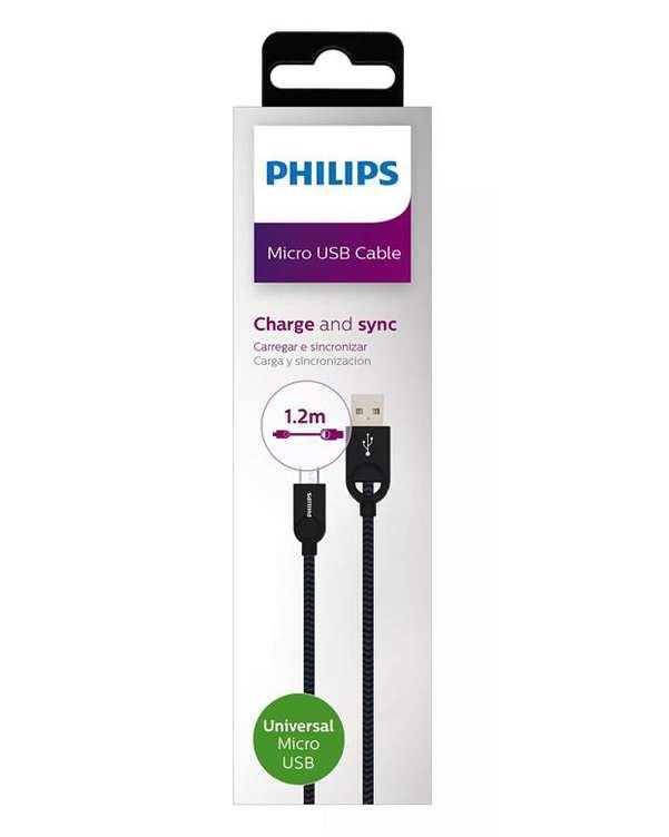 کابل تبدیل USB به MicroUSB مدل DLC2618B مشکی 1.2m فیلیپس