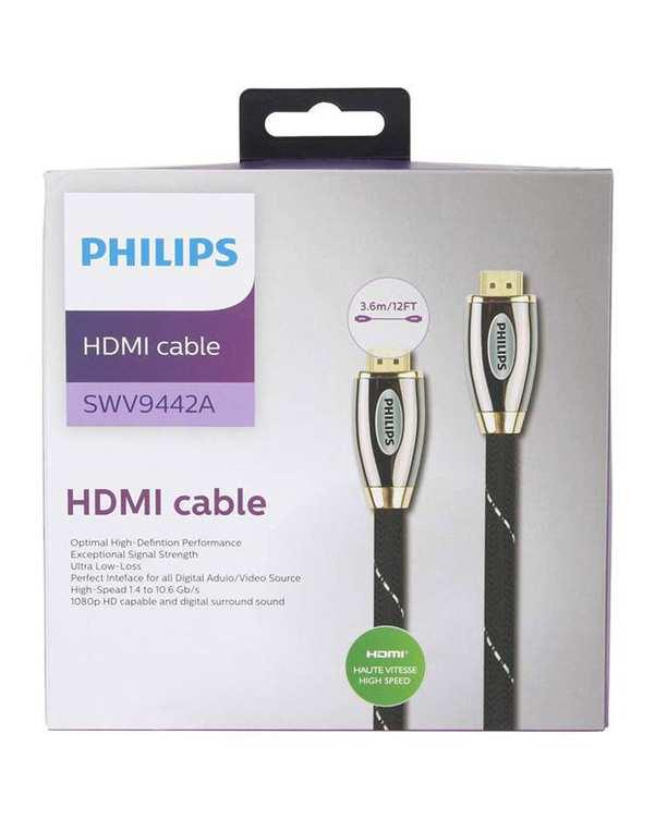 کابل HDMI مدل SWV9442A مشکی 3.6 متر فیلیپس
