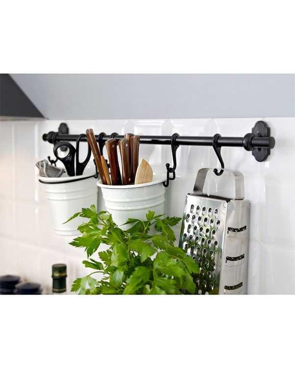 میله آشپزخانه مدل Fintorp مشکی ایکیا