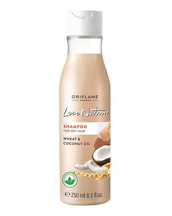 شامپو مخصوص موهای خشک 250ml Wheat & Coconut Oil اوریفلیم