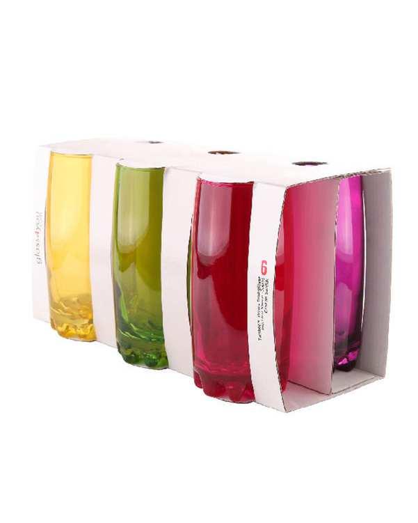 ست 6 عددی لیوان مدل HF596 چند رنگ تاتی هوم