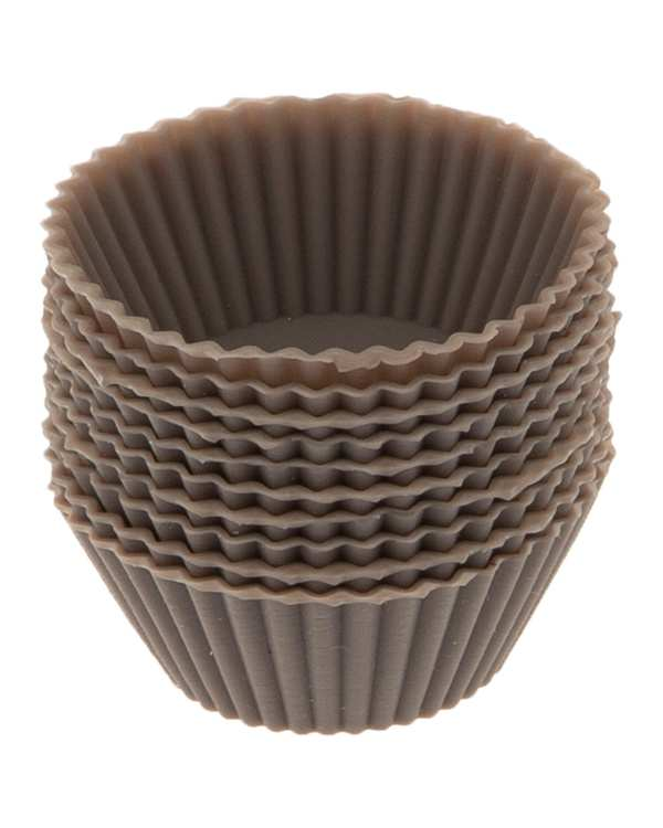 بسته 10 عددی قالب کیک مدل MR7 قهوه ای تاتی هوم