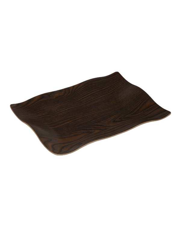 سینی چوبی مدل S20 قهوه ای تیره تاتی هوم