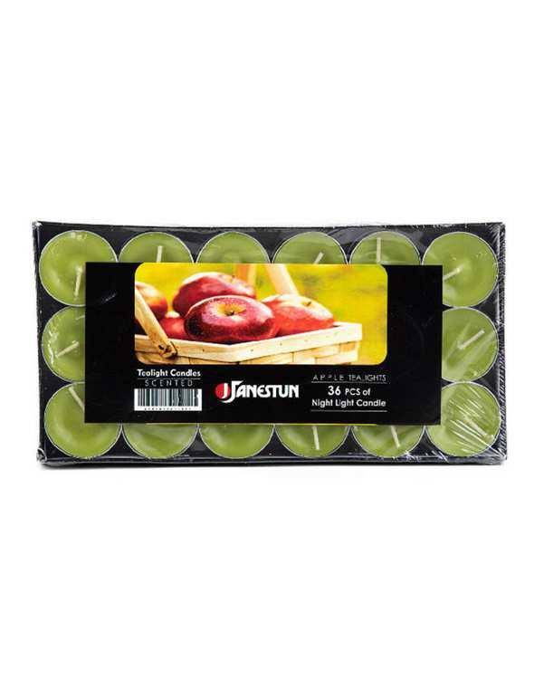 بسته 36 عددی شمع وارمر با رایحه سیب مدل 0029 سبز تاتی هوم