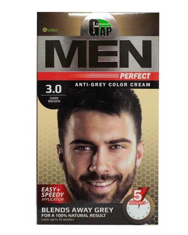 کیت رنگ مو مردانه شماره 3.0 قهوه ای تیره گپ