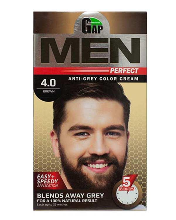 کیت رنگ مو مردانه شماره 4.0 قهوه ای گپ