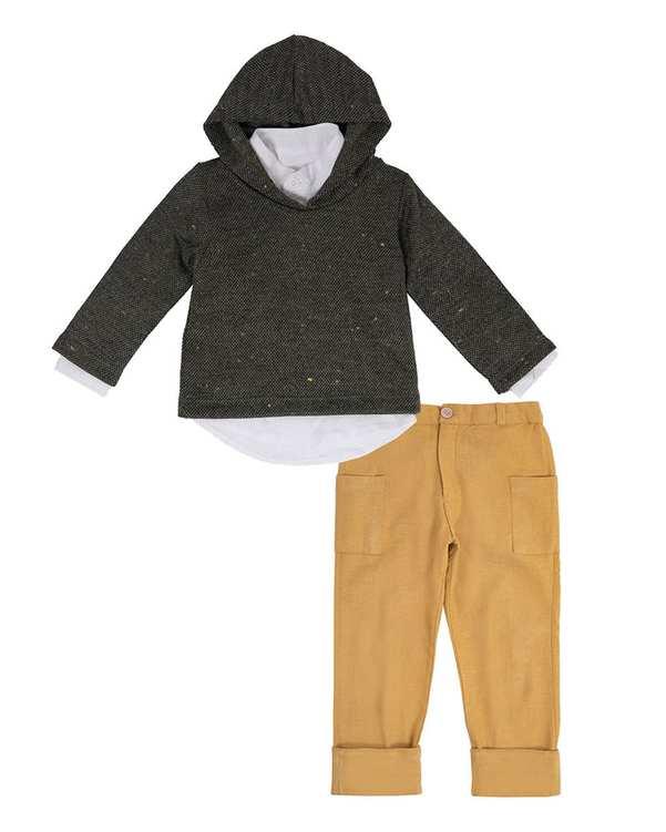ست 3 تکه لباس پسرانه نوزادی مدل 21203 چند رنگ فیورلا