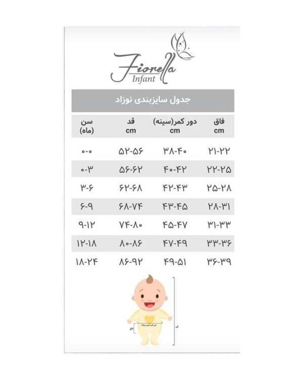 کاپشن پسرانه نوزادی مدل 20539 خاکستری فیورلا