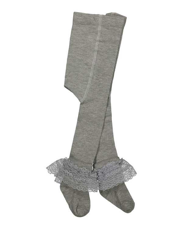 جوراب شلواری دخترانه نوزادی مدل 6_2014 نخی طوسی فیورلا