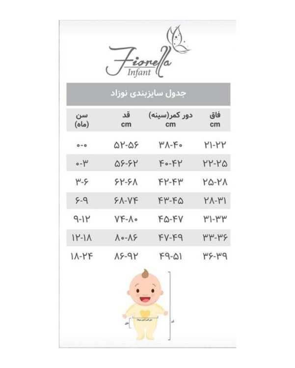 سرهمی دخترانه نوزادی مدل ربیط 2928 نخی سرمه ای سفید فیورلا