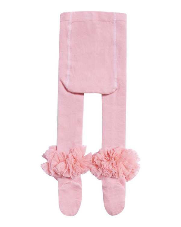 جوراب شلواری دخترانه نوزادی مدل 2005_2 نخی صورتی فیورلا