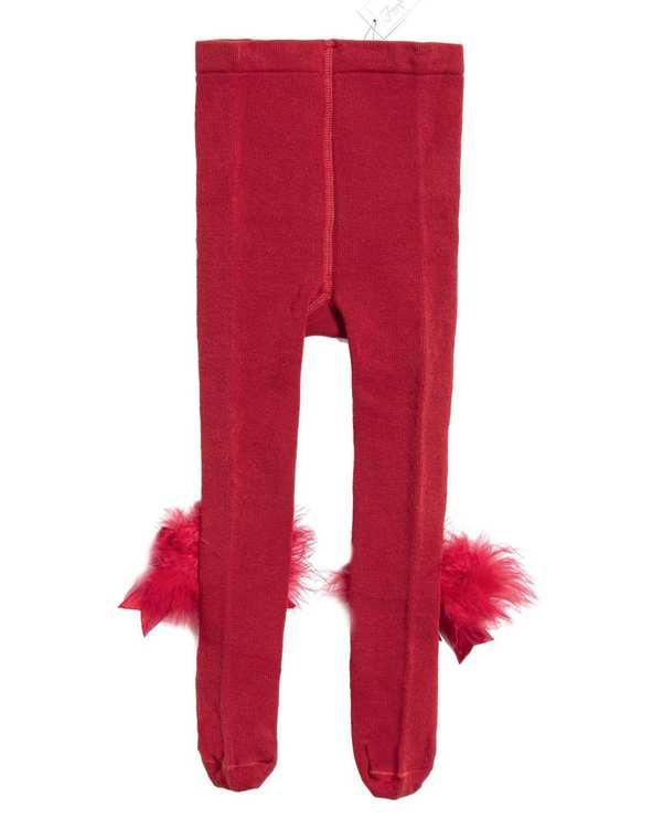 جوراب شلواری دخترانه نوزادی مدل 2002_6 نخی قرمزفیورلا